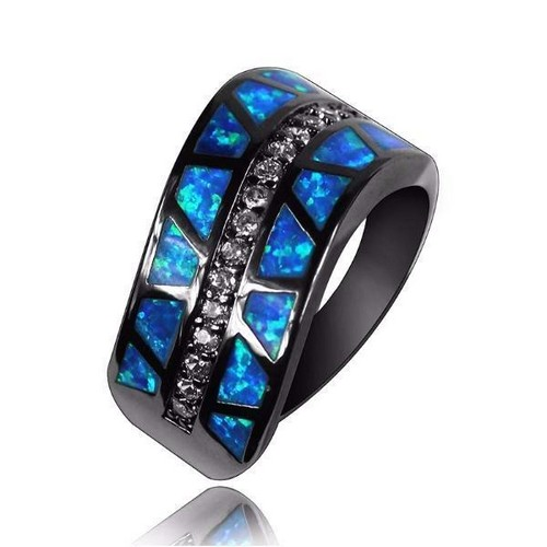 Natural Opal Engagement Rings