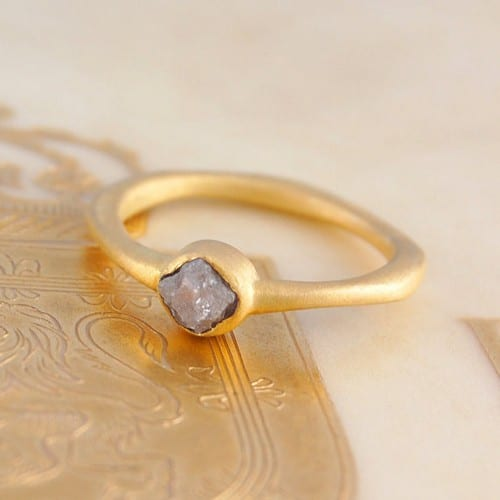 Natural Rough Diamond Rings