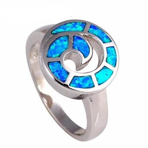 Opal And Peridot Engagement Ring