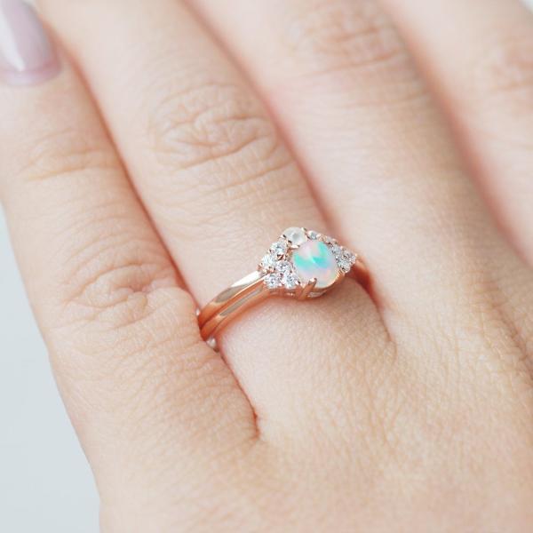 Opal Birthstone Engagement Rings