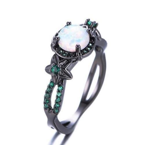 Opal Rings With Diamond