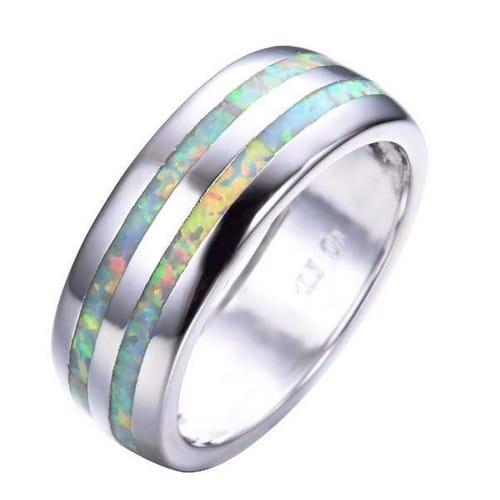 Opal Wedding Rings