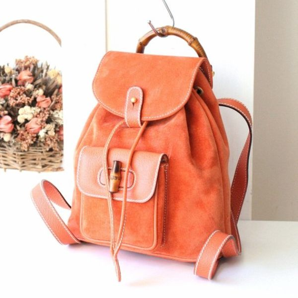 Orange Mini Backpack