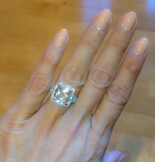 Oval Cut Morganite Engagement Ring