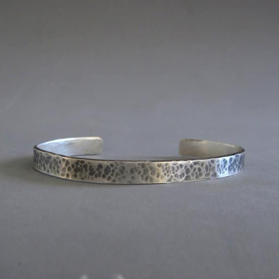 Oxidized Sterling Silver Bracelets For Men