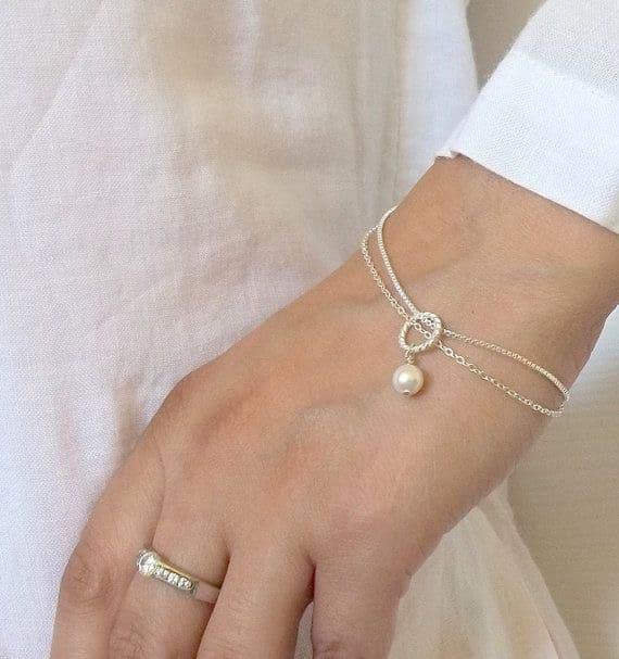 Pearl Jewellery Bridesmaids Bracelet Gift