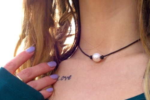 Pearl Necklaces Leather