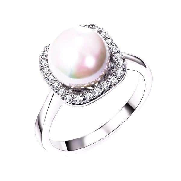 Pearl Ring Designs In White Gold