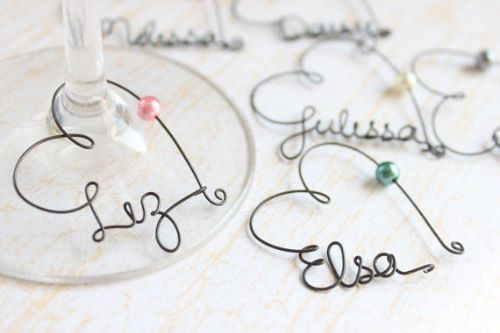 Personalized Wine Charms Wedding Favors for Guests