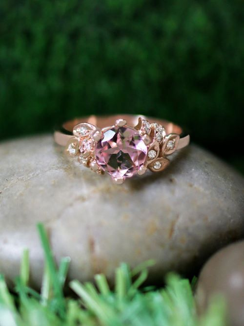 Pink Gold Engagement Rings For Sale