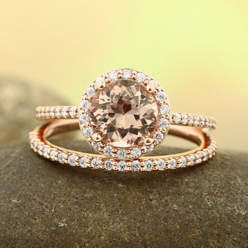Pink Gold Engagement Rings Tacori