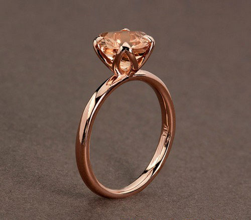 Pink Gold Engagement Rings Uk