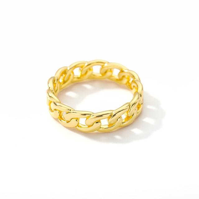 Delicate Stainless Steel Chain Ring