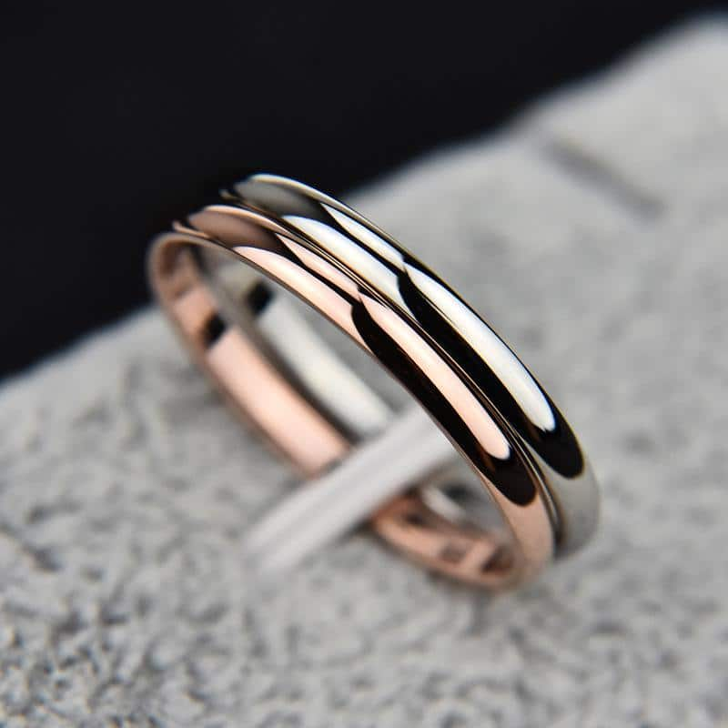 Smooth Simple Titanium Steel Unisex Band Ring
