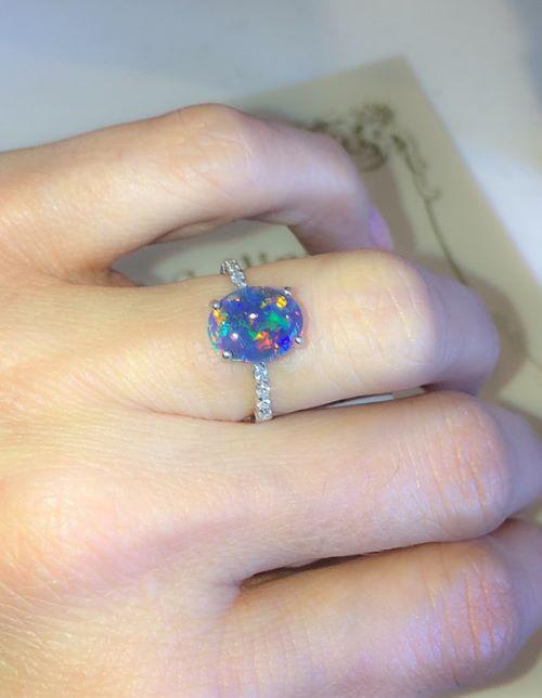Rainbow Opal Engagement Rings
