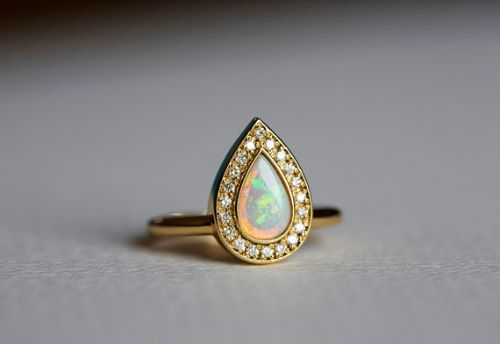 Real Opal Engagement Rings