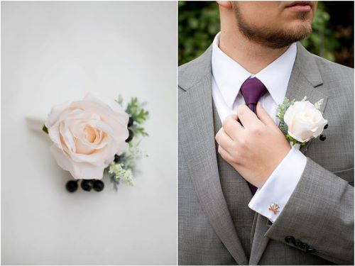 Rose Boutonniere Wedding Flowers Perfect for Groomsmen