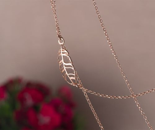 Rose Colored Gold Necklaces