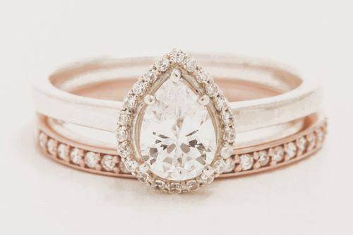Rose Gold Engagement Rings Etsy