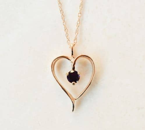 Rose Gold Heart Necklaces