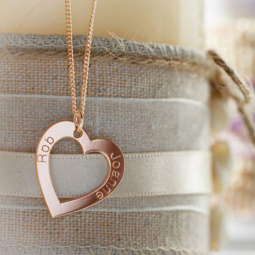 Rose Gold Heart Pendant Necklaces