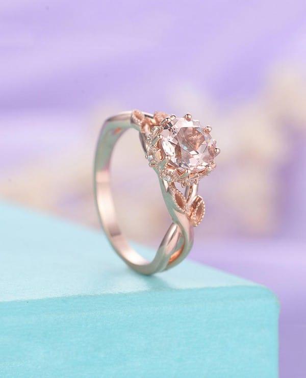Rose Gold Morganite Engagement Rings