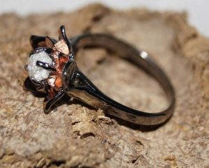 Rough Diamond Rings Etsy