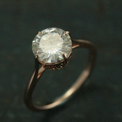 Round Cut Engagement Rings For Women
