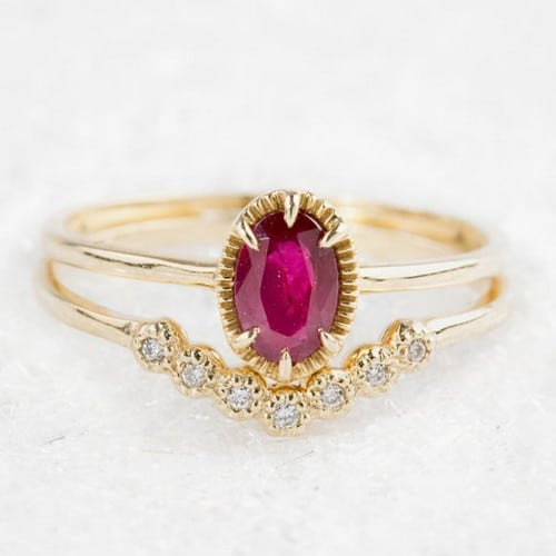 Ruby Gold Engagement Rings For Women