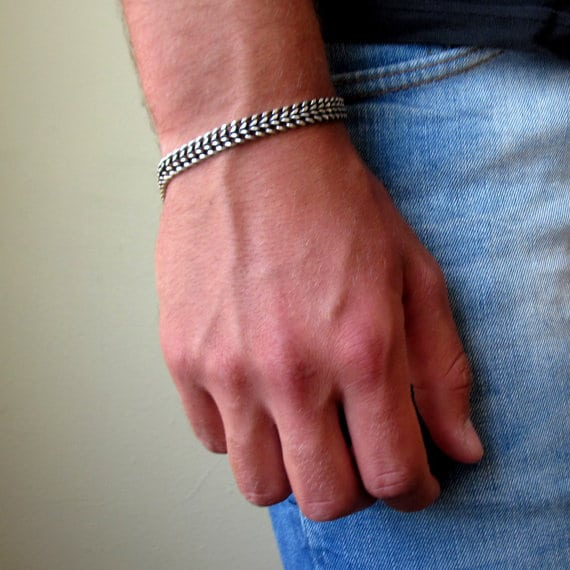 Silver Bracelets For Men Amazon
