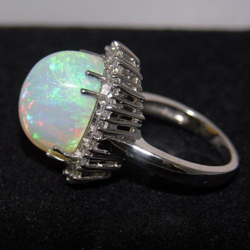 Simple Opal Engagement Ring