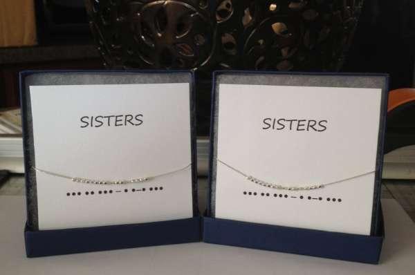 Morse Code Sisters Bracelet Set