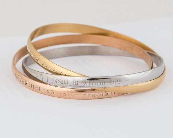Personalized Interlocking Bracelets Sister Gift