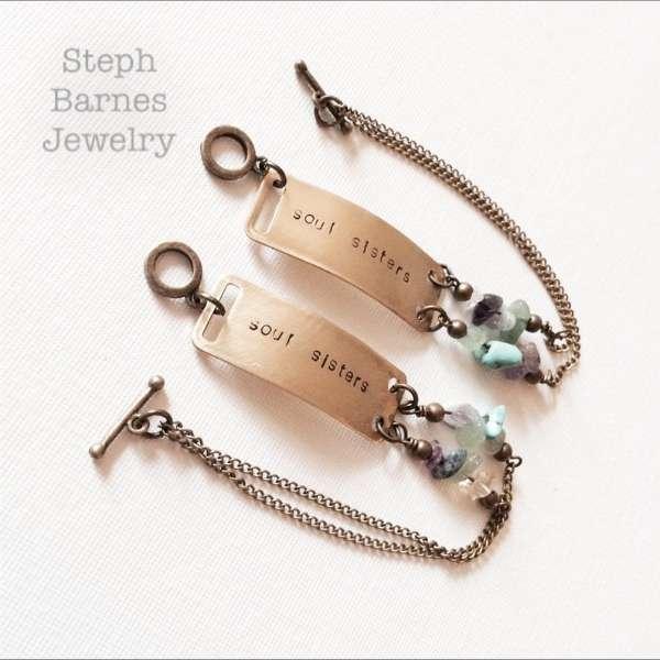 Set of Soul Sisters Bracelets in Bronze