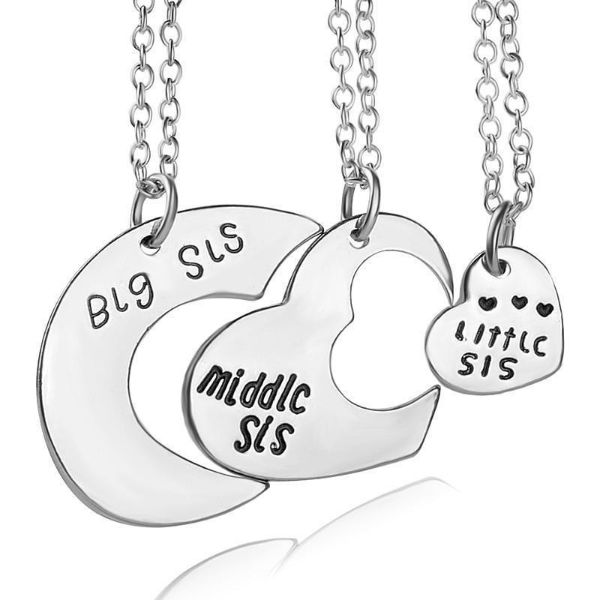 Sister Love Pendant Necklaces Set