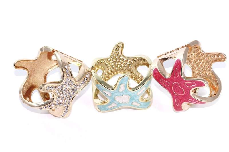 Starfish glitz bangle
