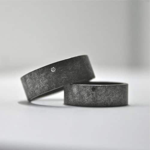Sterling Silver Wedding Ring Sets For Him And Her
