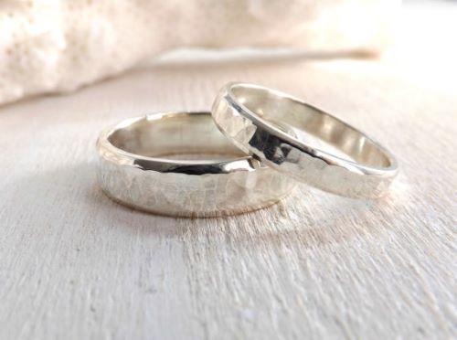 Sterling Silver Wedding Ring Sets