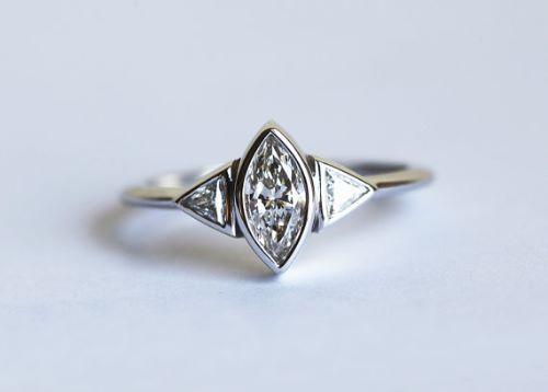 Trillion Diamond Engagement Rings For Women