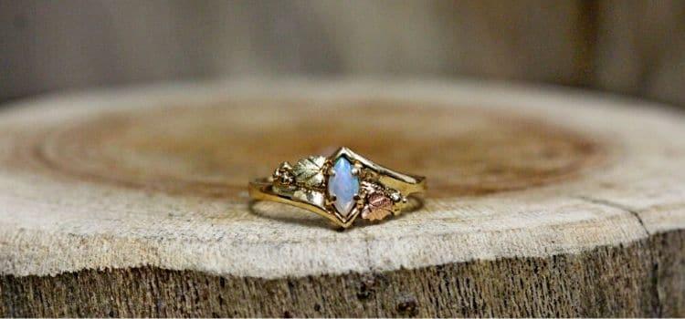 unique opal engagement ring