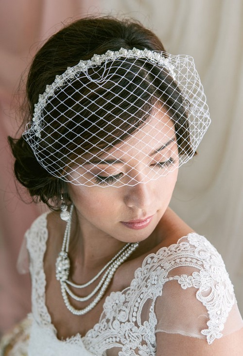 Vintage Wedding Birdcage Veil