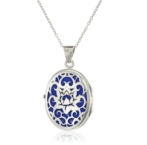 White Gold Locket Necklace