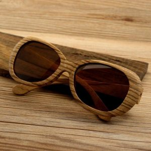 Wood And Gold Sunglasses