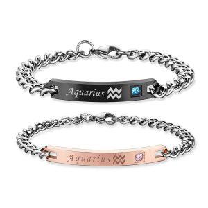 Zodiac Matching Couple Bracelets
